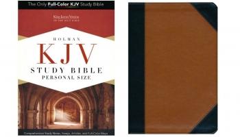 Holman KJV Study Bible Personal Size Review Black/Tan LeatherTouch